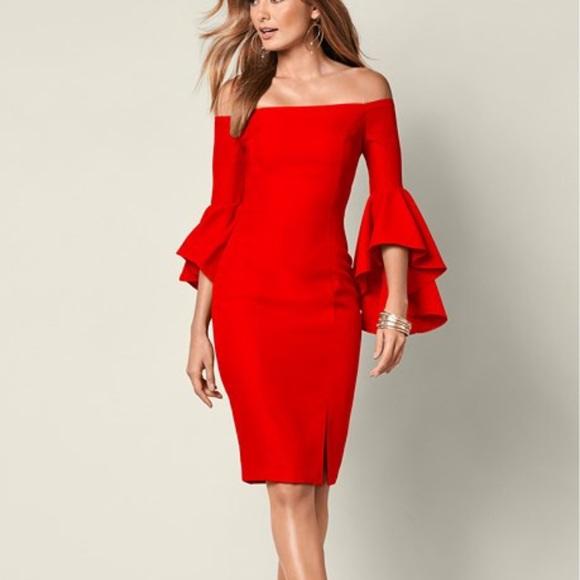 96c1d247aed VENUS Dress Off Shoulder Ruffle Sleeve Size Small.  M 5a9fb1095512fdf7069dec9a